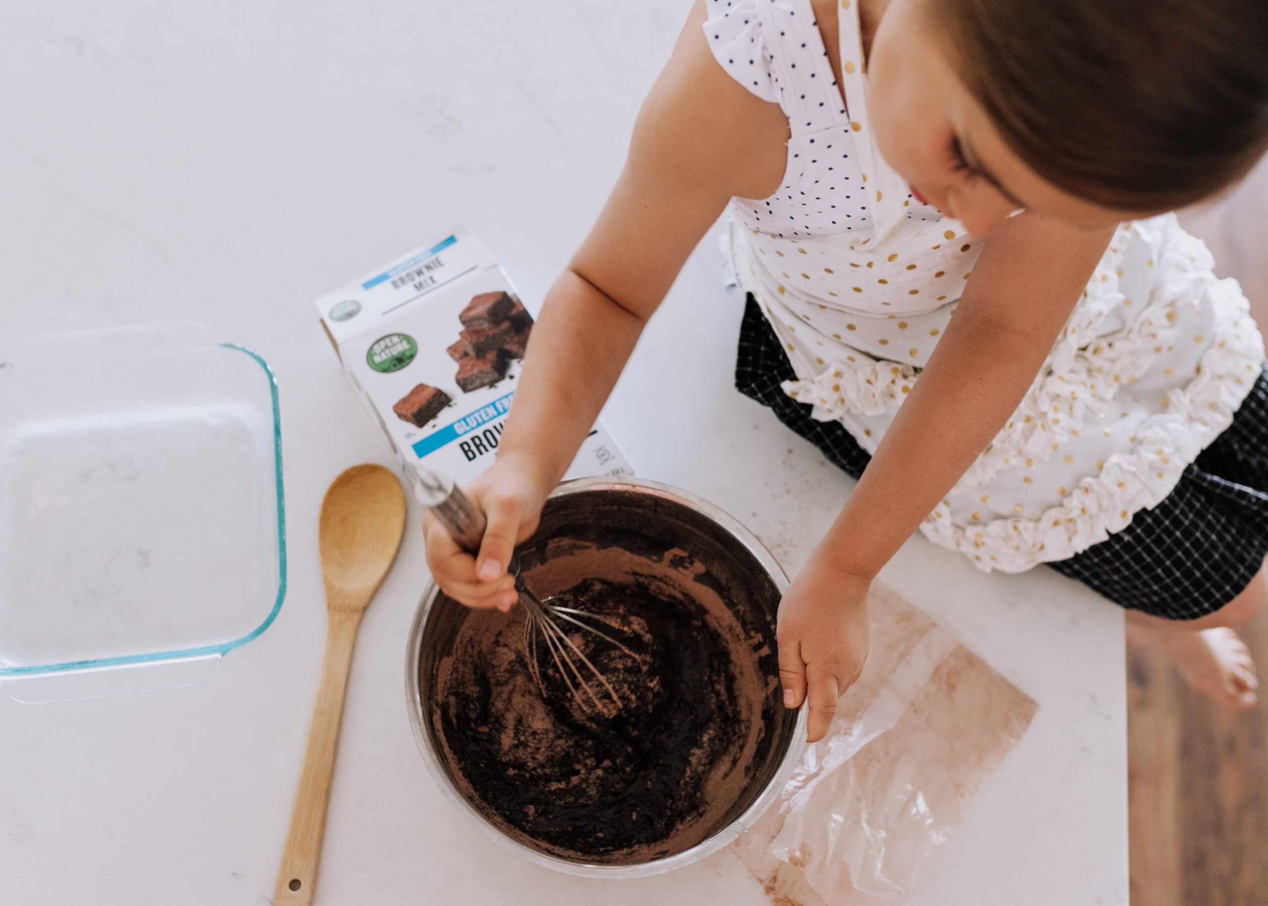 easy peasy brownie mix that's also gluten free! #opennature #safeway #glutenfree #brownies