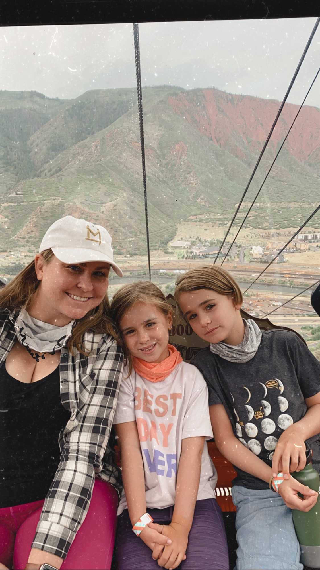 taking the gondola up to the Glenwood Caverns. #colorado #familytravel #mountainfun