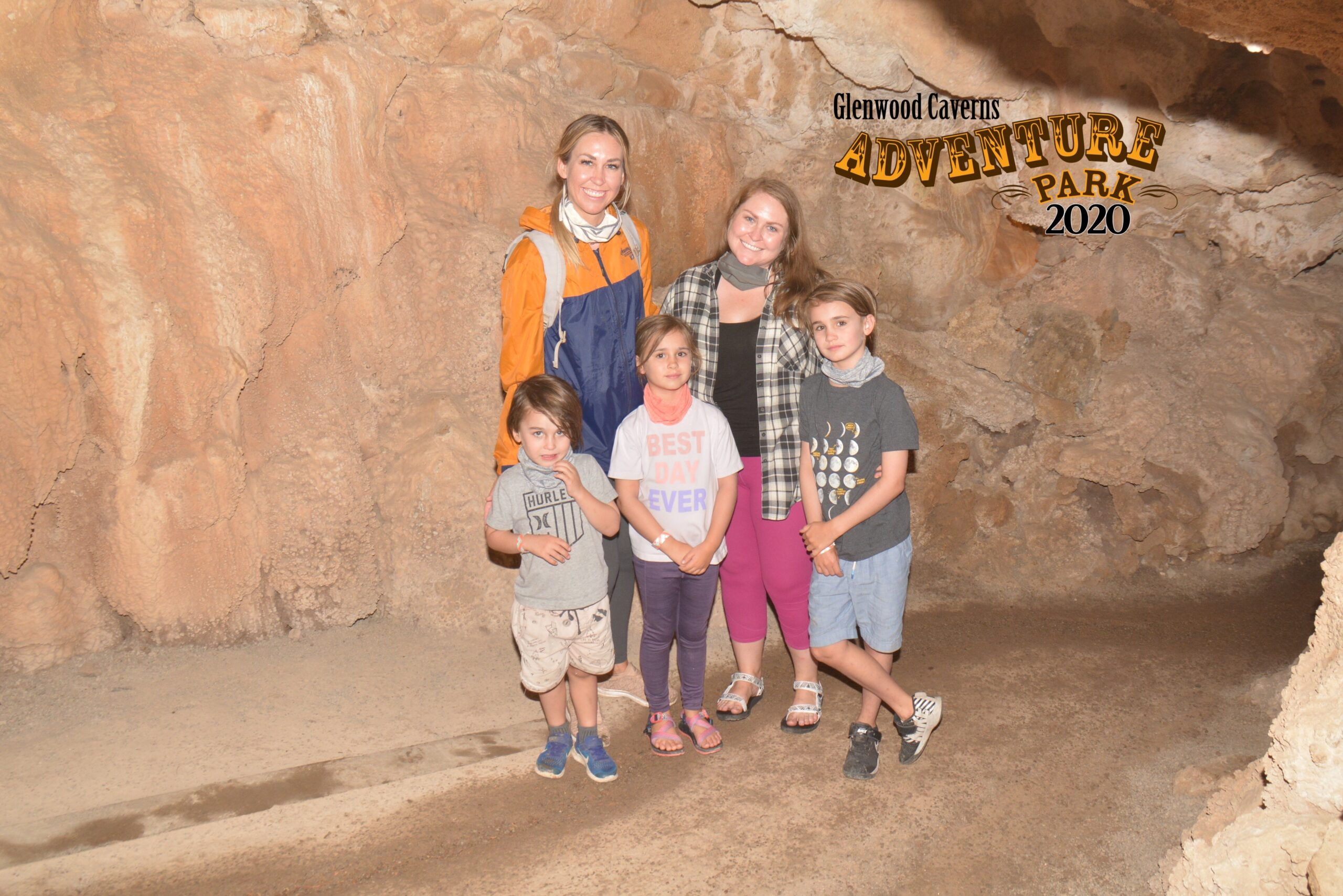 my sis and I and the kids doing the fairy tour at Glenwood Caverns Adventure Park. #cavetour #familytravel