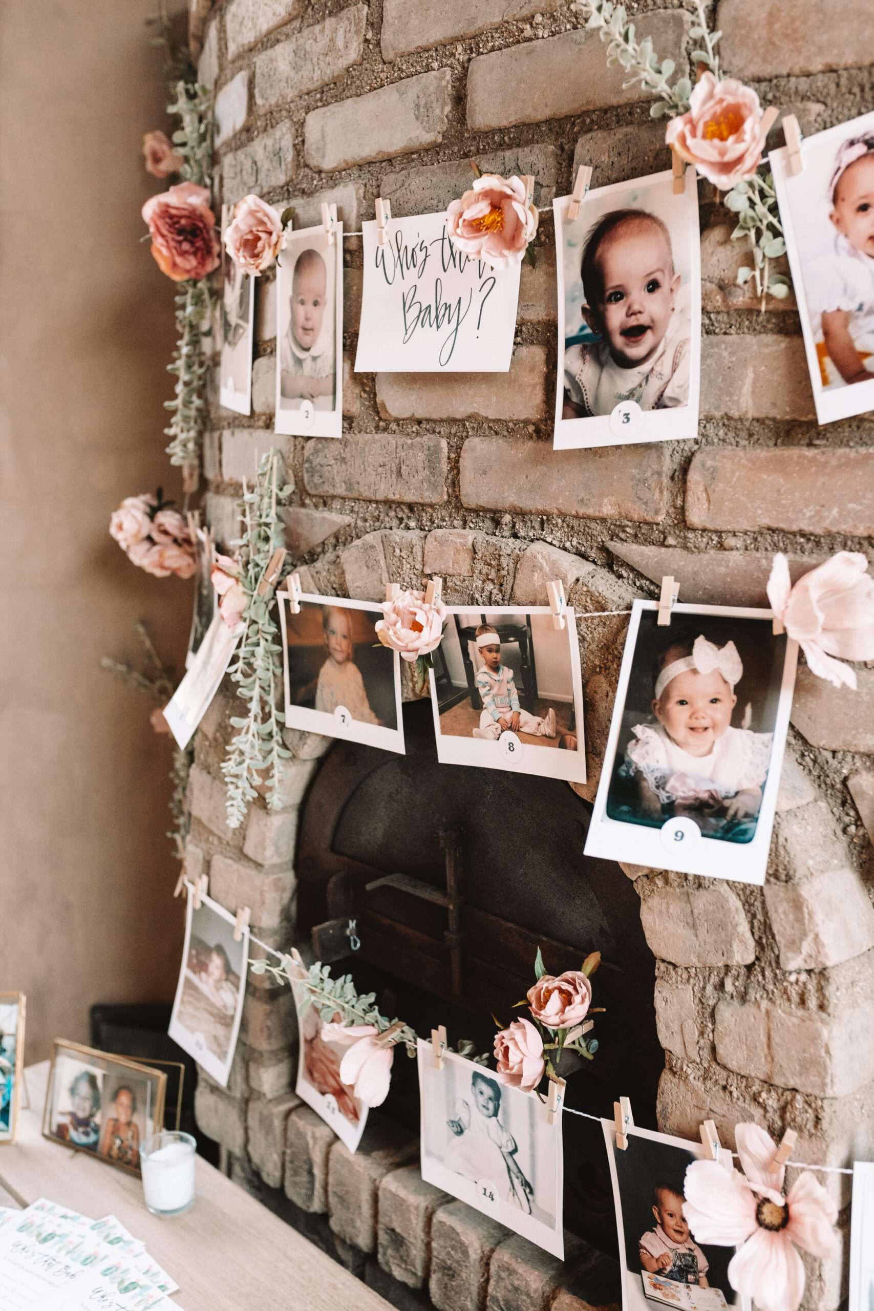 guess the baby for a fun baby shower game #babyshowerideas #guessthebaby #desertbohochic