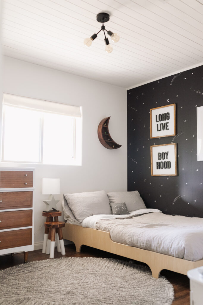 the ldl home: s space inspired big boy bedroom with all the details #thelovedesignedlife #theldlhome