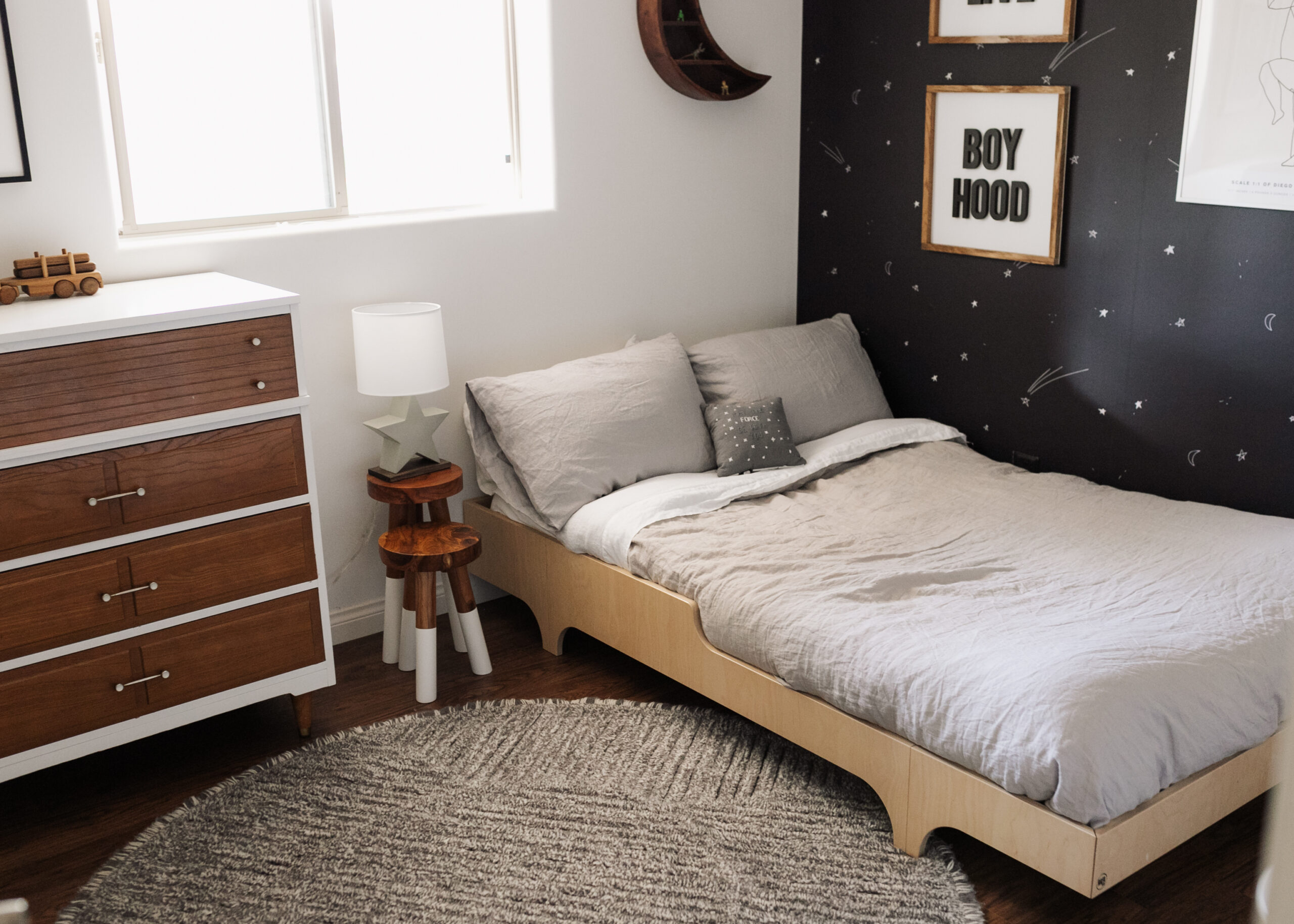 all the details for this space inspired big boy room #theldldhome #linenbedding