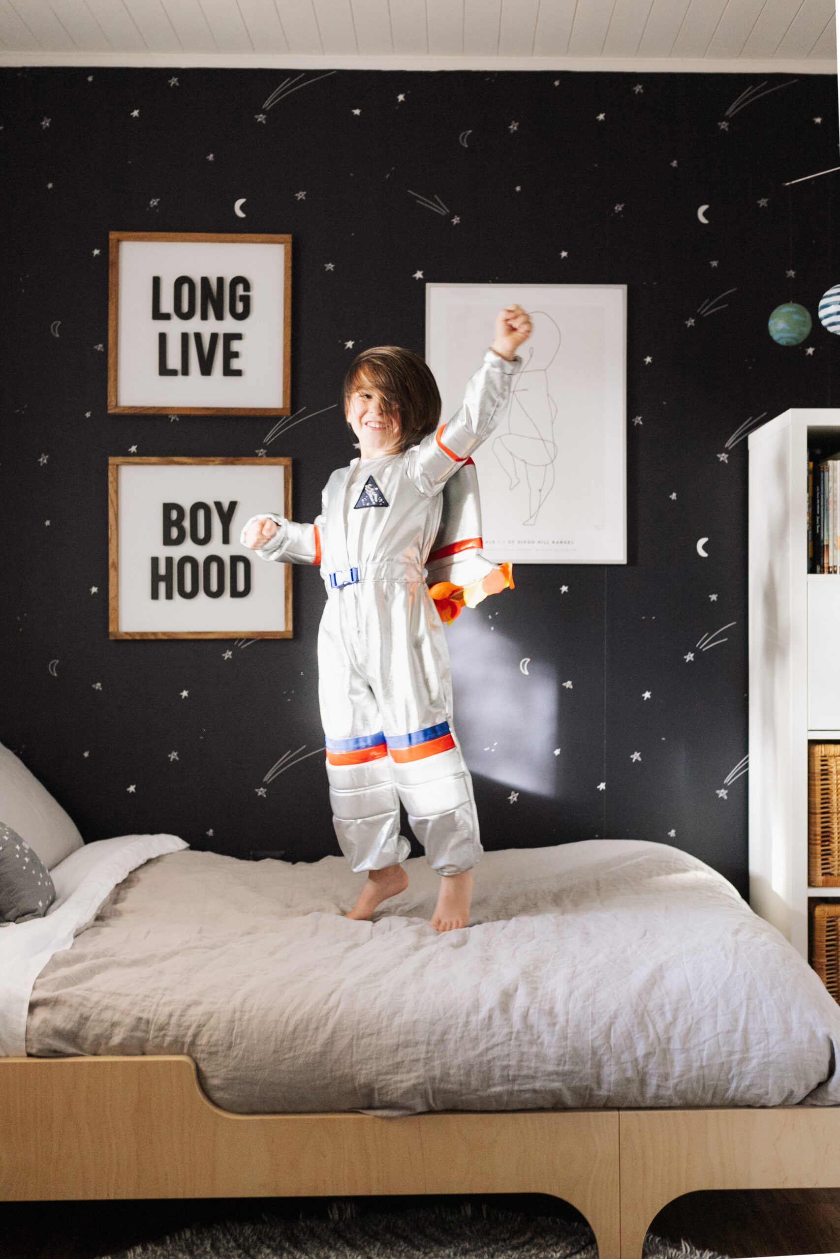 flying this boy to the moon in his space inspired room! #theldlhome #spaceroom #bigboyroom