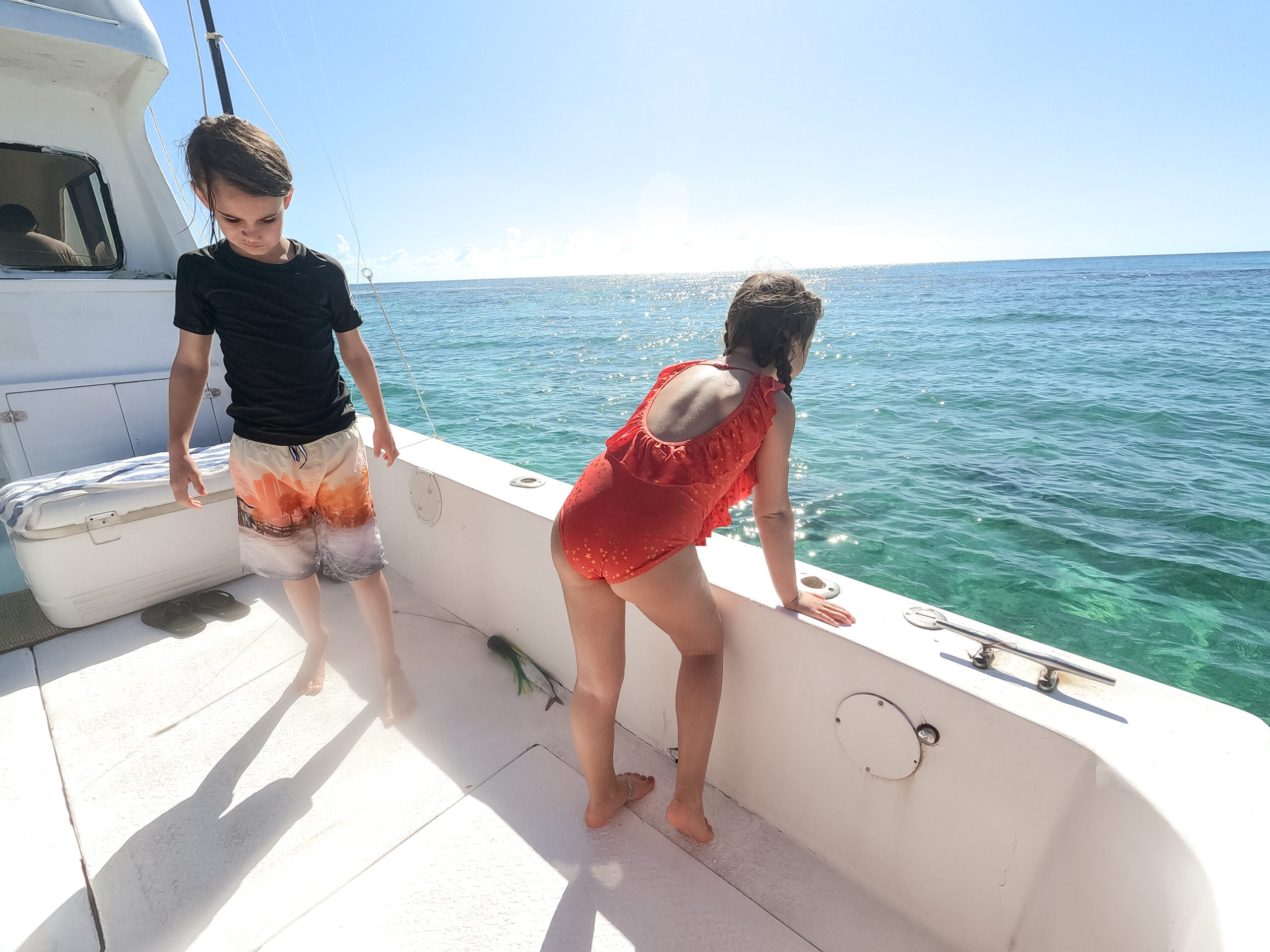 so much fun on the boat catching our lunch #thelovedesignedlife #theldltravels #familytravel #fishingboat #fishiningmexico #seafishing