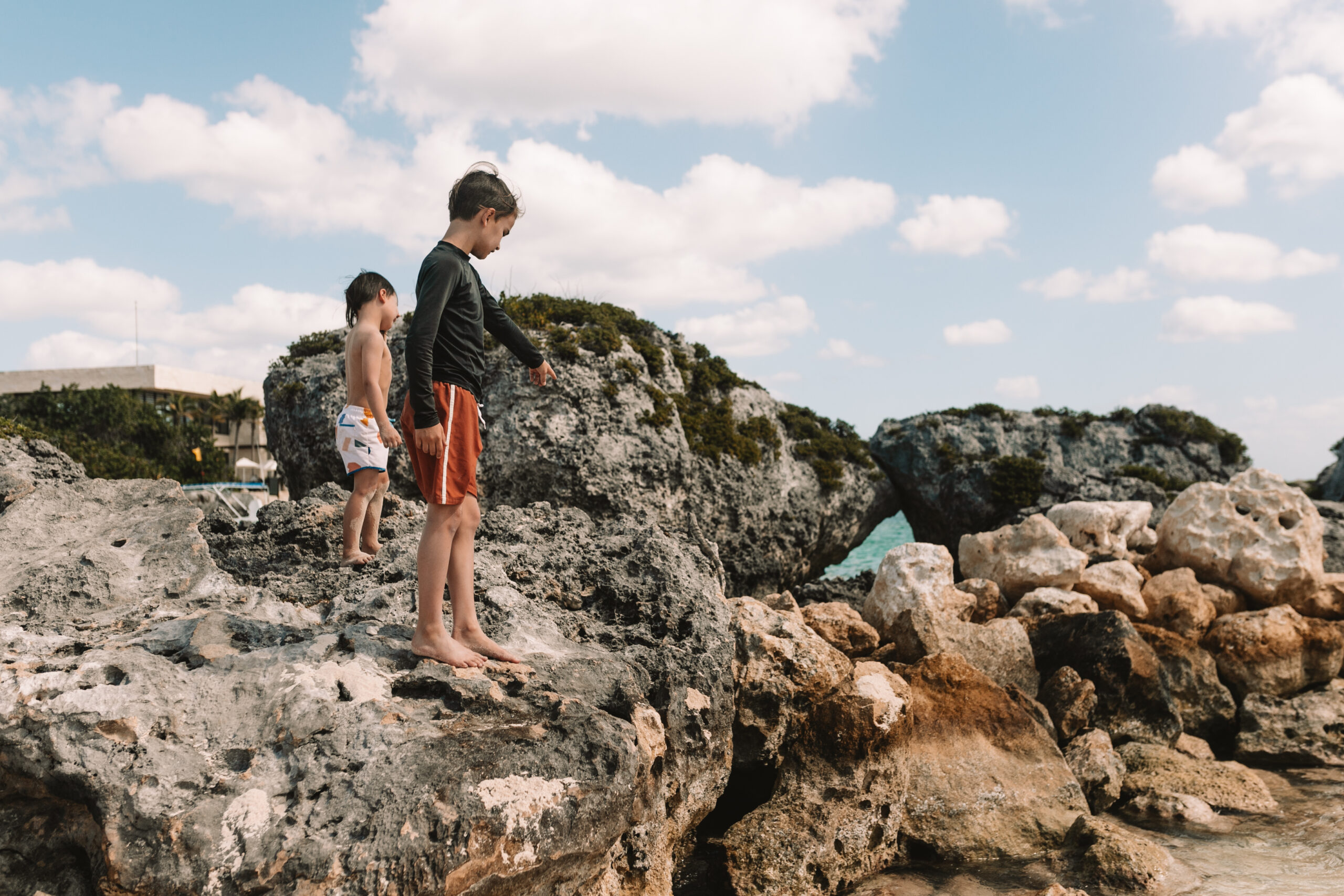 finding seashells during our trip to the riviera maya, mexico #travelwithkids #familytravel #beachtrip #wanderlust