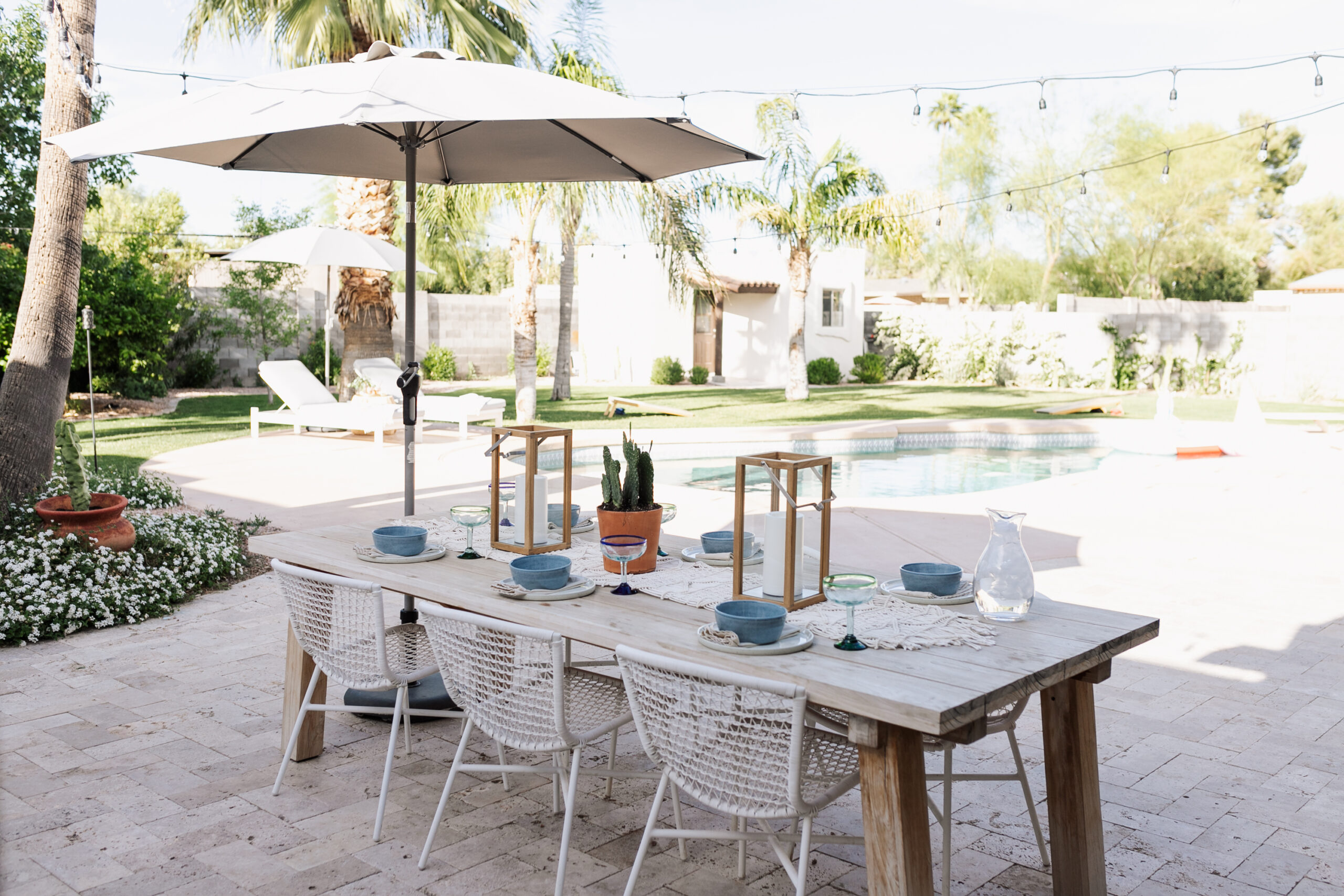 all set up for some outdoor dining in our backyard #thelovedesignedlife #theldlhome #outdoordining #ouraticle
