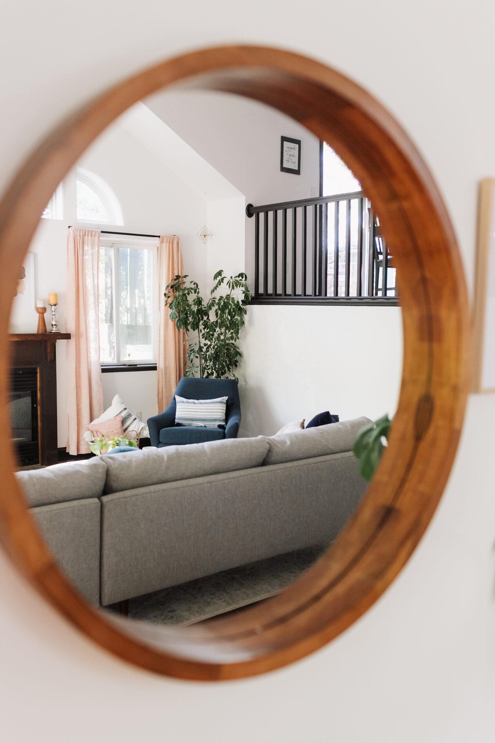 a sneak peek into the modern mountain living room reveal #theldlhome #modernmountainhome #mcm #theldlhome #livingroom