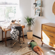 the sweetest space for the kiddos to come visit, learn, and grow! #modernmountainhome #theldlhome #thelovedesignedlife #bunkroom #kidsdesk