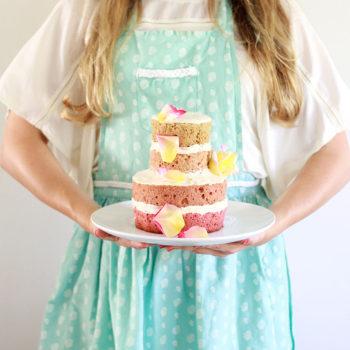 diy: vegan gluten-free ombre naked cake
